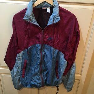 Vintage 80s 90s nike gray tag windbreaker jacket L